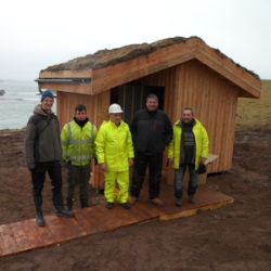 Composting toilet Handa Island