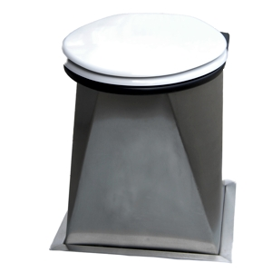 Stainless steel urine diverting compost toilet pedestal