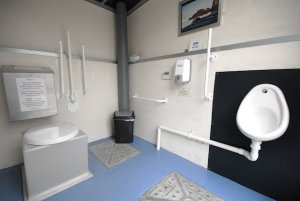 Allotment toilet internal view