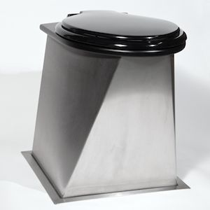urine separating compost toilet pedestal stainless steel