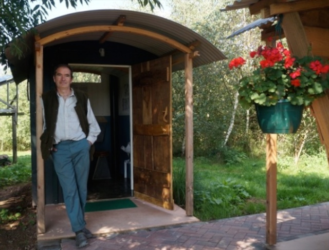 Hollow Ash Shepherds huts glamping toilet