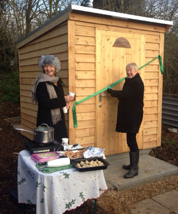 Toilet opening ceremony at Runwell allotments, Essex