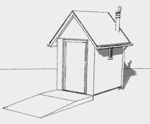 Sketch of a bespoke compost toilet