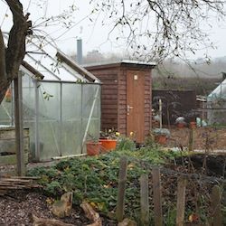 allotment dry composting toilet timber building