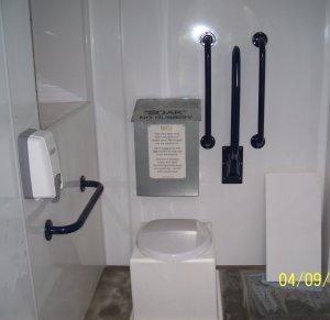 Abergynolwyn Church toilet interior