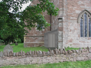 Generated image of NatSol timber building on side of church