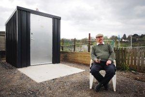 metaForest Farm Allotments composting toilet, Cardiff