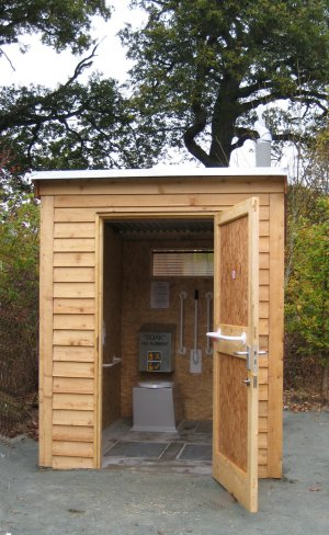 Natsol compost toilet at Coed y Dinas, Welshpool