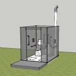 Self build compost toilet Sketchup model