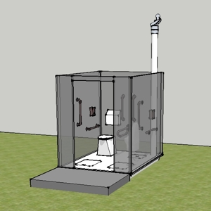 Sketchup compost toilet