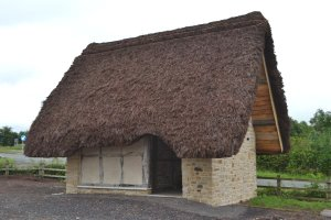 Thatched compost toilet
