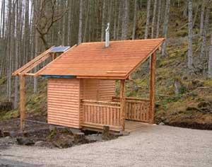 Architect designed dry toilet
