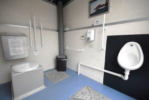Allotment toilet internal view