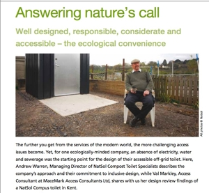 NatSol composting toilet review of accessibility