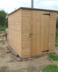 Timber DIY compost toilet building