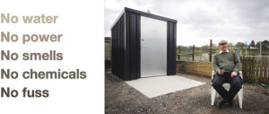 Waterless compost toilets for allotments, churches, campsites