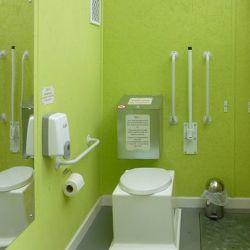 Compost toilet interior
