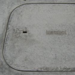Compost toilet emptying hatch