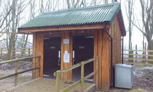 Compost toilets at the Wildfowl and Wetlands Centre, Lancashire