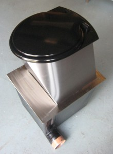 Compact compost toilet