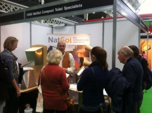 Compost toilets at Farm Business Show 2013