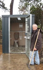 Leabrook allotment toilet