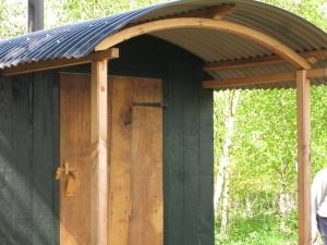 Hollow Ash Shepherds huts glamping toilet