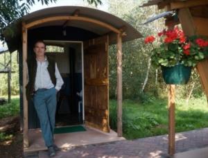 compost toilet for shepherd's hut campsite