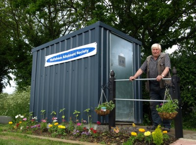 Waterless toilet at Hailsham allotments, East Sussex