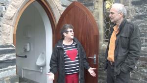 NatSol Director Andy visiting toilet installations