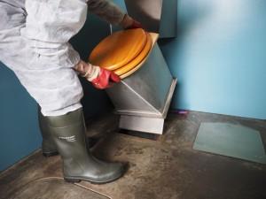 Removing the pedestal ona NatSol toilet