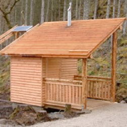 Customer designed building for natsol compost toilet