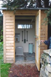 Thurlby Church Toilet, traditional privy style