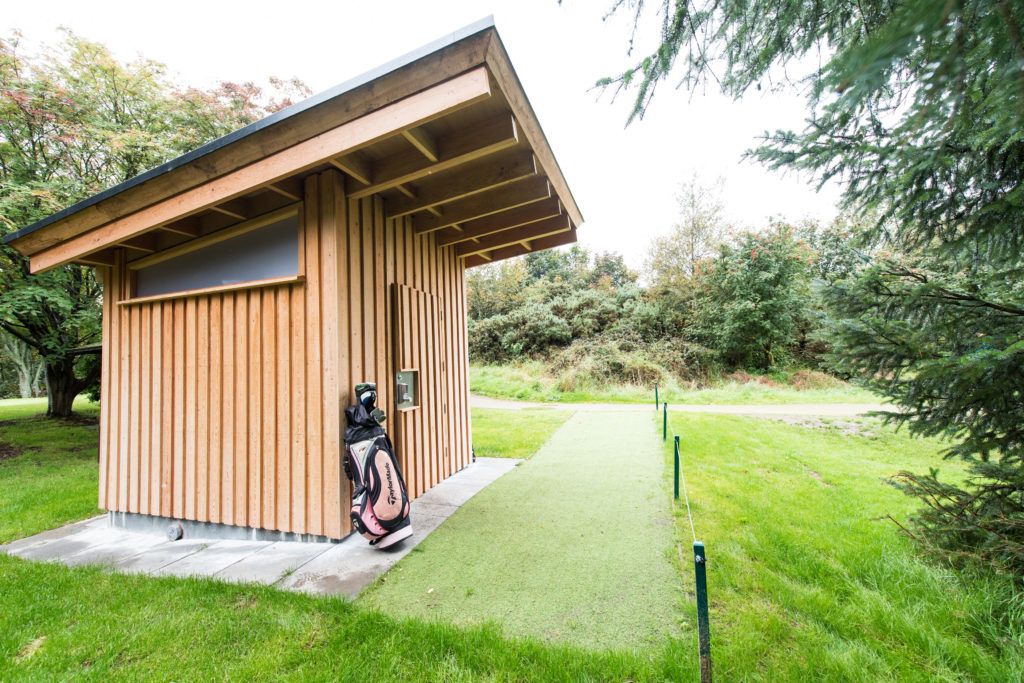 Golf course toilet