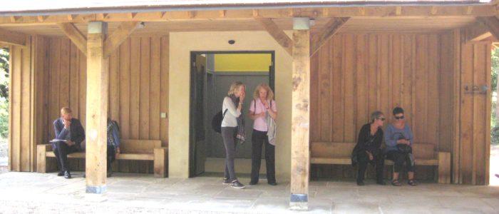 Waterless toilet facility at Richmond Park, London