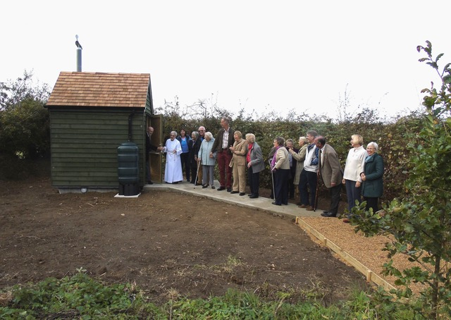 A queue for the loo at All saints Church, Freethorpe, Norfolk