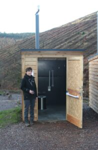 One of 8 Zero Discharge Toilets supplied to Natural Resouces Wales for a forest site