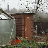 Composting toilet timber building offering full wheelchair access