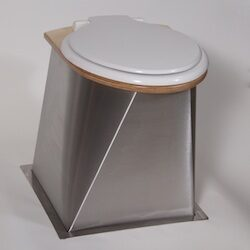 Urine separating compost toilet pedestal